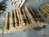 Balustrade en marbre beige / doré pour projet de construction