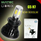 防水高い発電H7 80W 8000lm LEDのヘッドライトヘッドランプキットのビーム球根の球根6000k