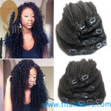 Зажим Kinky курчавой бразильской девственницы Afro людской в выдвижении волос