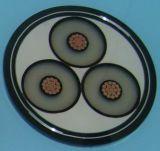 Le conducteur de cuivre XLPE (de 33) kilovolts de la tension moyenne 18/30 a isolé le câble blindé de bande en acier