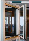 熱壊れ目のアルミニウムおよびカシ木合成のプロフィールの開き窓のWindows