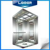 Ascenseur/ascenseur de passager d'acier inoxydable de miroir en verre