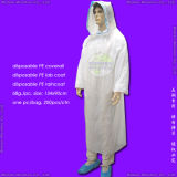 防水SurgicalかMedical/Hospital/Plastic/Polyethylene/Poly/PE/HDPE/LDPE/PP+PE/PP/SMS/Polypropylene Nonwoven Disposable Protective Gown、Disposable Coverall