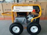 RCDおよび4つのXの空気の大きい車輪(GP8000SE)が付いている携帯用ガソリン発電機7500ワットの