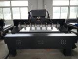 8ヘッド4軸線回転式CNCの木版画かルーター機械