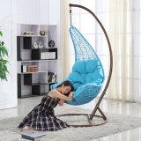 Jardim Travando Egg cadeira de balanço de vime Exterior / giro de vime Mobiliário (D018)
