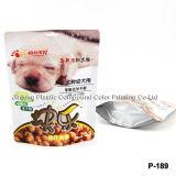 Zip Borse Blocco cibo per cani con fondo Gusset