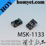 Interruptor de corrediça da alta qualidade do fabricante de China com 6 Pin SMD (MSK-1133)
