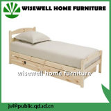 Lit simple en bois de pin avec tiroir Pull-Out (WJZ-B87)