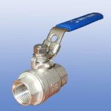 Valvola a sfera manuale dell'acciaio inossidabile per aria/acqua/olio