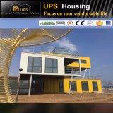 Casa personalizada do recipiente da construção de aço do projeto para o hotel de luxo combinado