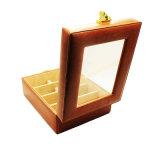 De Doos van de Opslag van Sunglass van het Leer van het Ontwerp Pu van de Luxe van het venster