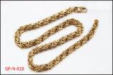 Ketting van de Halsband van het Roestvrij staal van het Plateren van Glold de Byzantijnse