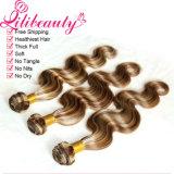 Выдвижение человеческих волос девственницы объемной волны способа волос Ombre градиента перуанское