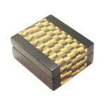 Holzrahmen-Samt-innerer Schmucksache-Kasten