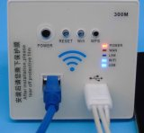 300 Mbps Wall Embedded Wireless WiFi Repetidor 3G 5V 1500mA Carregador USB Socket Router com interruptor
