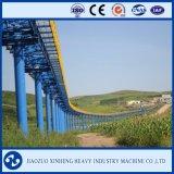 Transporte de correia curvado industrial pesado