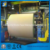 Rectángulo acanalado Kraft del cartón que recicla la cadena de producción de papel de la maquinaria de la planta