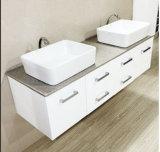 Vaidade moderna nova do banheiro do dissipador dobro com dissipador