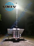 Albero meccanico/idraulico telescopico di alluminio Palo della torretta di illuminazione