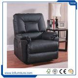 Mobília baixa de madeira do chinês do sofá do uso da sala de visitas do sofá do couro do projeto moderno