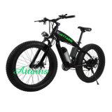 2018 새 모델 48V 750W 전기 뚱뚱한 타이어 자전거