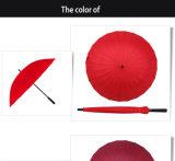 방수 방풍 자동차 열려있는 싼 개인화된 로고 24K 똑바른 우산 제조자