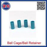 Aço de PTFE de PEEK de nylon de plástico POM pistas de rolamento de esferas/retentores