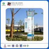 Signe en aluminium vertical extérieur personnalisé d'impression UV pour des poteaux indicateurs de station