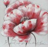 Pintura hecha a mano de la flor de los artes para la decoración casera