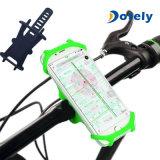 Sostenedor ajustable del teléfono de la bicicleta de la bici del silicón de encargo del lazo