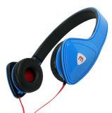 Leicht billig auf dem Ohr, das Kopfhörer MP3 mit 3.5mm Verbinder-Flachkabel faltet