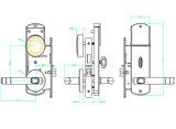 Spezieller elektronischer Verschluss des Entwurfs-Hotel-RFID, Hotel-intelligenter Verschluss, intelligenter Hotel-Tür-Verschluss