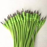 3,5 мм моно гидроцилиндра Eurorack запальных свечей в темноте модульная соединительные кабели зеленый