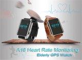 Frequência cardíaca idosa do perseguidor do relógio do GPS que monitora o relógio esperto do GPS