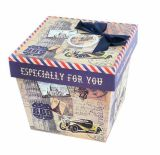 Rectángulo de almacenaje de papel de la cartulina, rectángulo de regalo, empaquetado del regalo