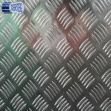 Un piccolo piatto checkered di alluminio 1100 H14 delle cinque barre