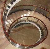 Baluster круга стеклянный с деревянным поручнем Jbd-8048