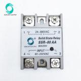 Le SSR-80AA 80UN CONTRÔLE 90V- 250VAC 24V sortie-480 AC Phase unique SSR Relais relais de l'état solide