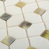 Mattonelle di mosaico decorative di vetro macchiato del materiale da costruzione per la casa