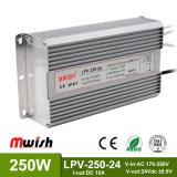 24V 250W Wechselstrom wasserdichten LED Aluminiumfahrer zum Gleichstrom-SMPS IP67