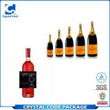 La aduana imprimió la etiqueta autoadhesiva rodada pegamento de la botella de vino