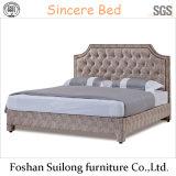현대 디자인 실제적인 가죽 침대