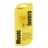 3.5mm Headphone Mic Audio Cables there Splitter Converter Adapter (yellow)
