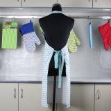 Grembiule della cucina della tela di canapa per le donne e la ragazza del capretto, cotone floreale di Pinkneoviva