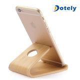 Soporte perezoso del teléfono de la base del soporte del iPhone de los artes del teléfono celular del sostenedor de madera de la tablilla