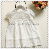 Alineada 100% del bebé de las muchachas del verano del algodón de Smocked para el niño