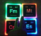 Un insieme d'ardore radioattivo del sottobicchiere degli elementi LED di 4