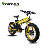 Bici eléctrica de 20 pulgadas de la nieve gorda elegante del neumático con el motor delantero/trasero