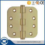 Bisagra de puerta común llana material de cobre amarillo del hardware de los muebles